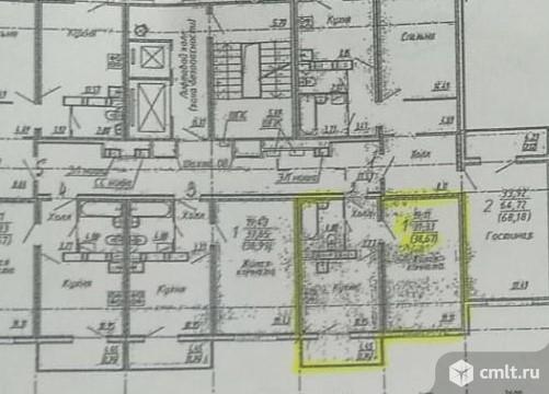 1-комнатная квартира 38,7 кв.м. Фото 9.
