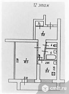 1-комнатная квартира 41 кв.м. Фото 12.