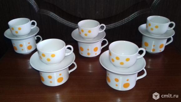 Чайный набор, СССР, Дулево. Фото 1.