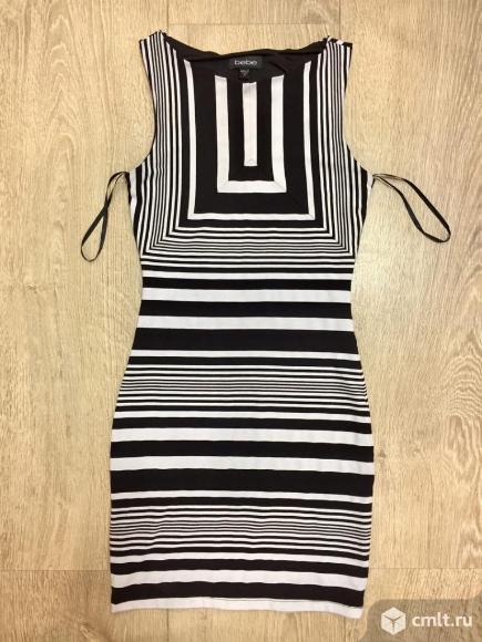 Платье Bebe, черно-белое. Фото 1.
