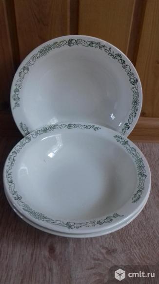Глубокие тарелки, 3шт. Фото 1.