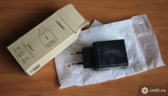 Зарядное устройство Ugreen 3 USB. Фото 1.