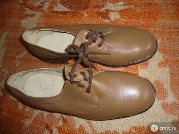 Туфли мужские новые кожа натур.. Фото 1.
