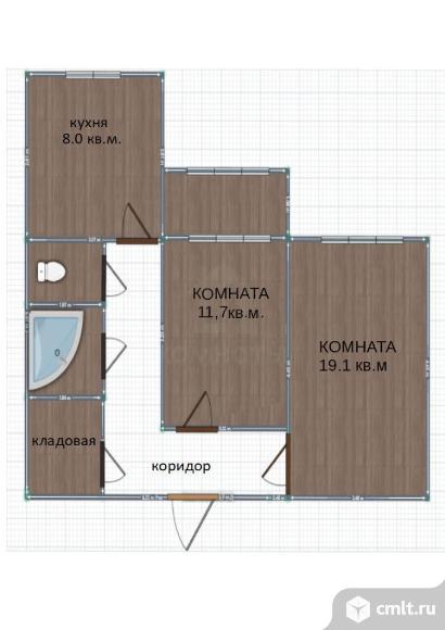 2-комнатная квартира 54 кв.м. Фото 11.