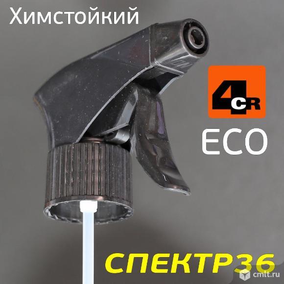 Триггер на бутылку 4CR химстойкий (черный) ECO для. Фото 1.