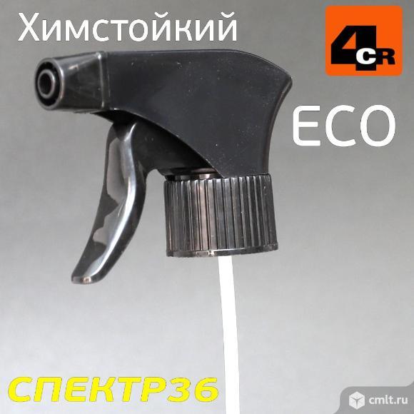 Триггер на бутылку 4CR химстойкий (черный) ECO для. Фото 3.