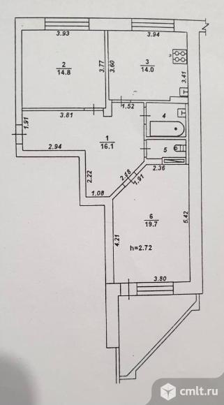 2-комнатная квартира 70 кв.м. Фото 20.