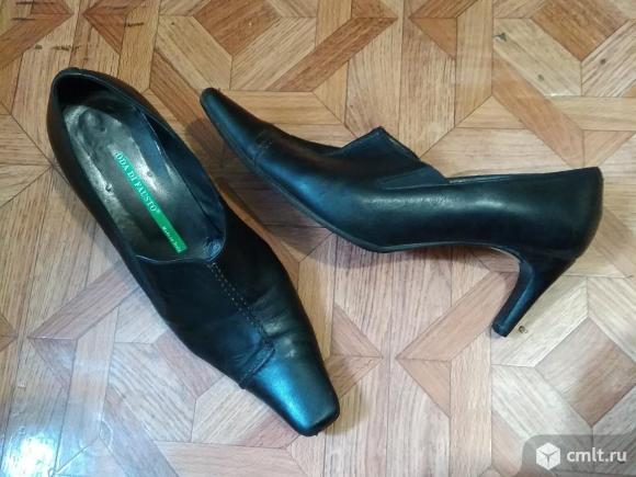 Туфли черные кожаные импортные. Фото 1.