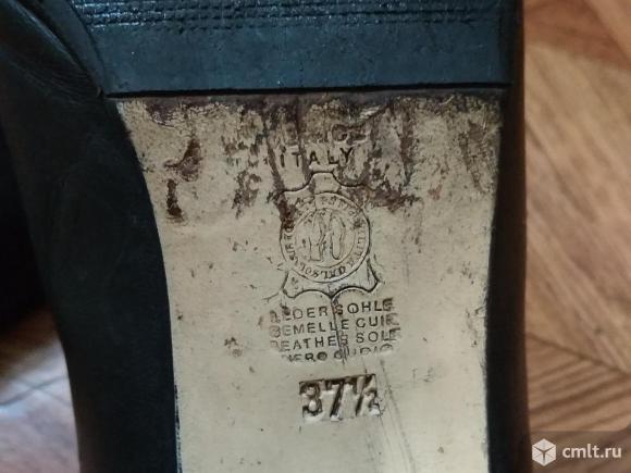 Туфли черные кожаные импортные. Фото 3.