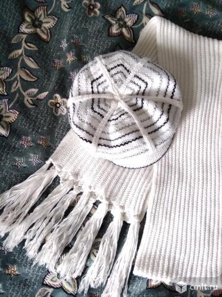 Шапка +шарф. Фото 1.