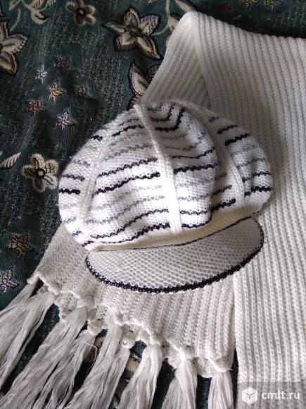 Шапка +шарф. Фото 3.