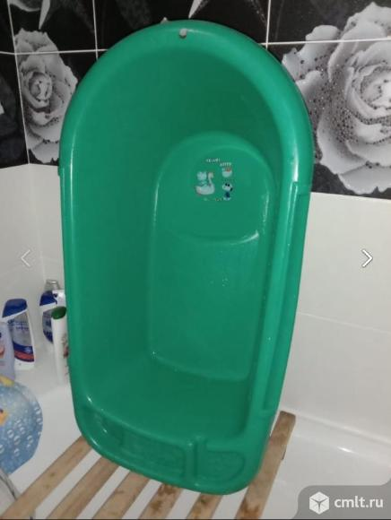 Ванночка пластмассовая детская, цв. зеленый, 83х45 см. Фото 2.