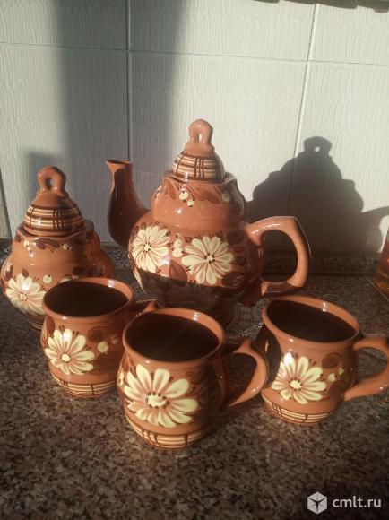 Чайный набор, расписная керамика. Фото 1.