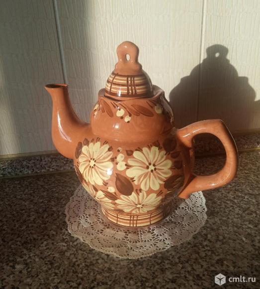 Чайный набор, расписная керамика. Фото 3.