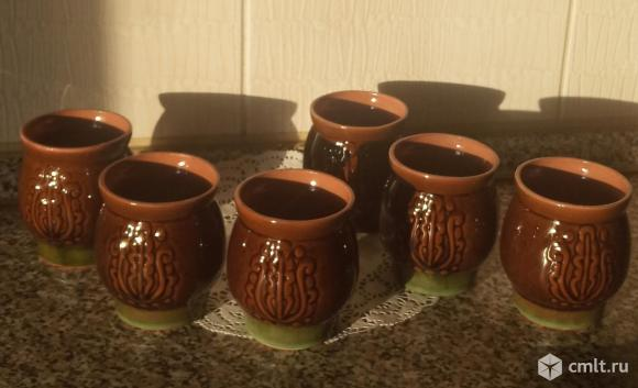 Кувшин со стаканами, керамика. Фото 2.