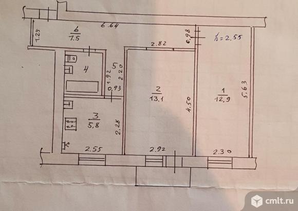2-комнатная квартира 44,1 кв.м. Фото 13.