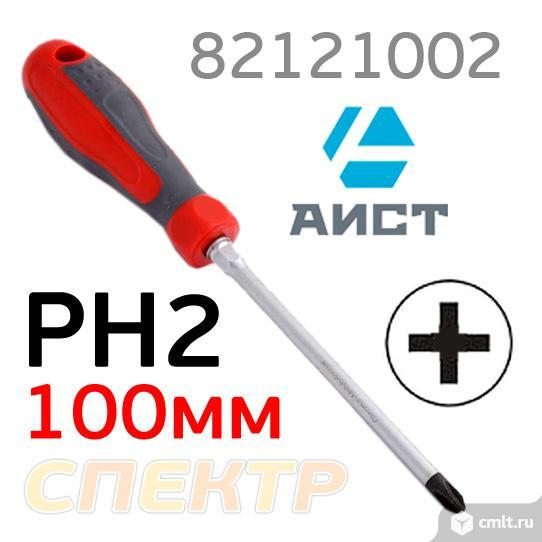 Отвертка PH2x100мм AIST 82121002 под ключ ударная. Фото 1.