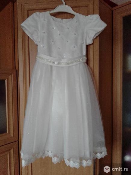 Праздничное платье для девочки 6-8 лет продаю. Фото 2.