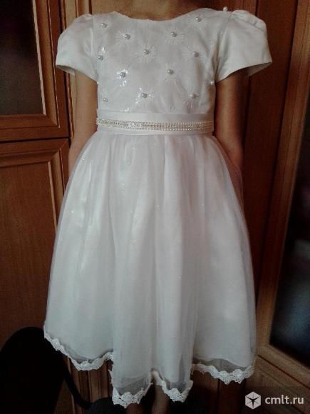 Праздничное платье для девочки 6-8 лет продаю. Фото 1.