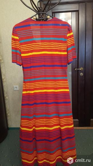 Платье трикотажное красное. Фото 2.