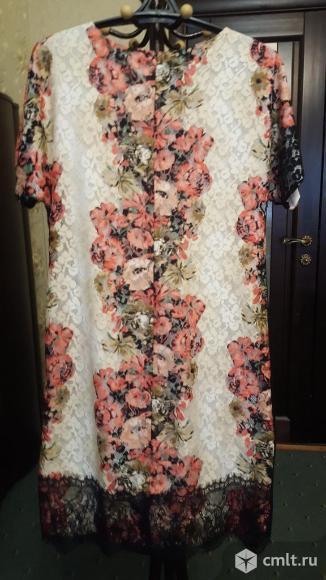 Платье гипюровое 48-50 в идеальном состоянии. Фото 1.