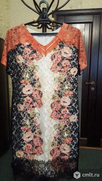 Платье гипюровое 48-50 в идеальном состоянии. Фото 2.