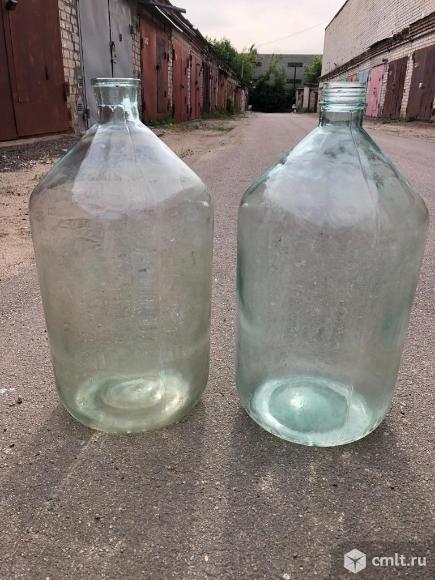 Продам бутыли стеклянные 20 и 10 литров. Фото 1.