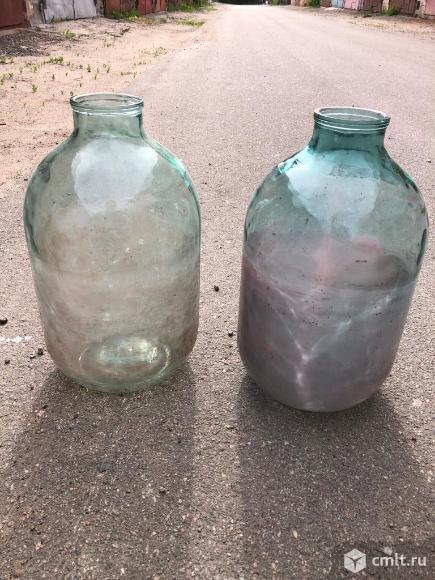 Продам бутыли стеклянные 20 и 10 литров. Фото 2.