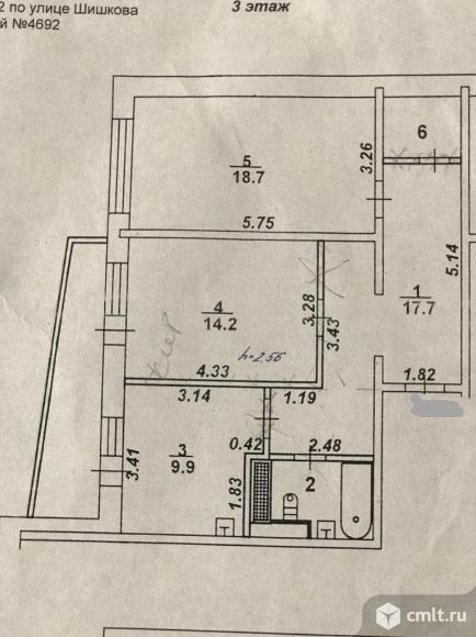 2-комнатная квартира 67 кв.м. Фото 7.