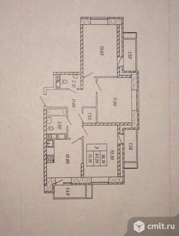 Продам 3-комн. квартиру 72 кв.м.. Фото 1.