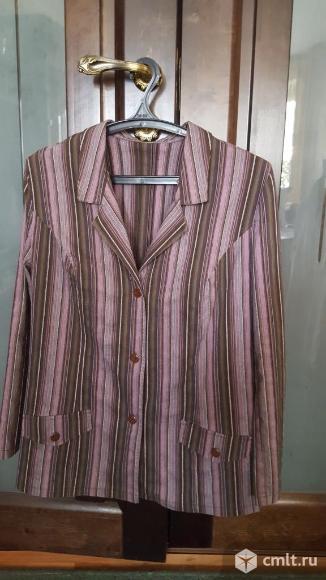 Пиджак полосатый новый 50-52р. Фото 1.