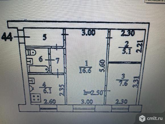 2-комнатная квартира 43,3 кв.м. Фото 13.