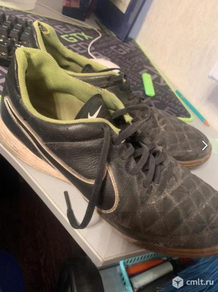 Кроссовки Nike мужские, р. 45.5, цв. черный, б/у, 200 р. Фото 1.