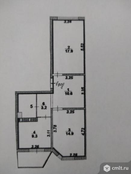 2-комнатная квартира 60 кв.м. Фото 11.