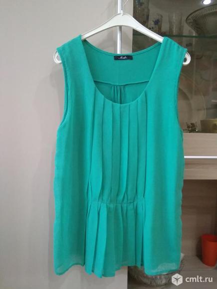 Блузка бирюзовая. Фото 1.