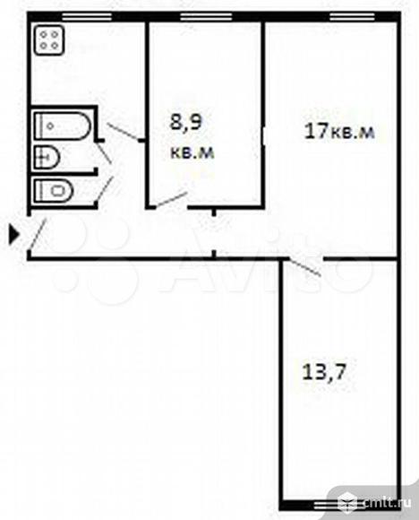 3-к. квартира, 57,1 м?, 1/5 эт. Продажа, Собственник, Торг. Фото 7.