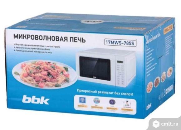 Новая гарантия микроволновая печь BBK 17MWS-785S/W. Фото 1.