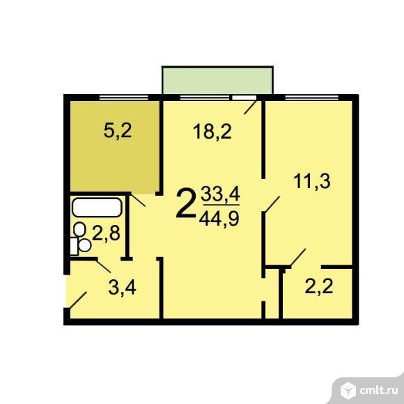 Продам 2-комн. квартиру 44.5 кв.м.. Фото 6.