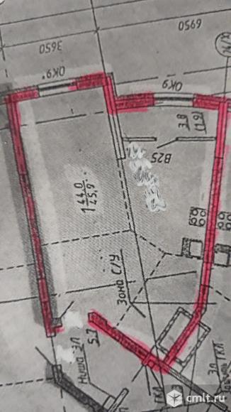 1-комнатная квартира 45,9 кв.м. Фото 1.