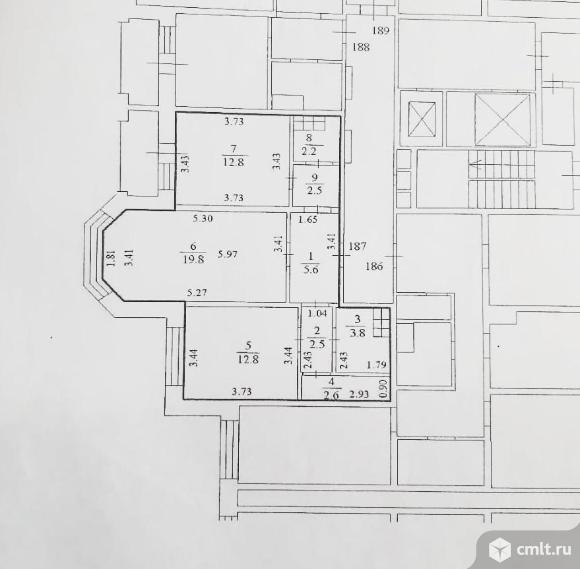 2-комнатная квартира 64,6 кв.м. Фото 13.