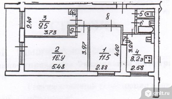 3-комнатная квартира 58,6 кв.м. Фото 20.