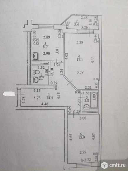 Продается 2-комн. квартира 59.7 кв.м.. Фото 1.