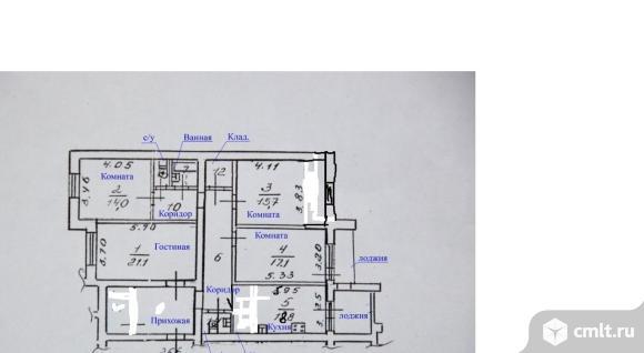 4-комнатная квартира 130 кв.м. Фото 12.