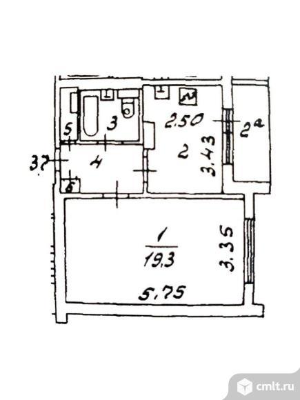 Продам 1-комн. квартиру 36 кв.м.. Фото 1.