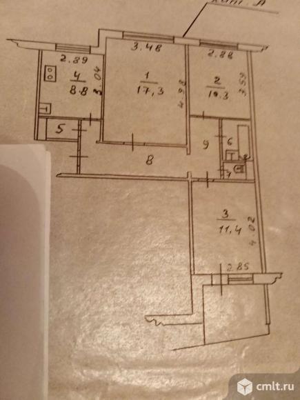 3-комнатная квартира 63,1 кв.м. Фото 20.