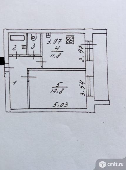 1-комнатная квартира 44,2 кв.м. Фото 17.