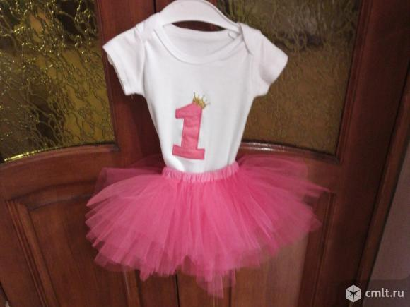 Костюмчик на 1 годик (юбка боди). Фото 1.