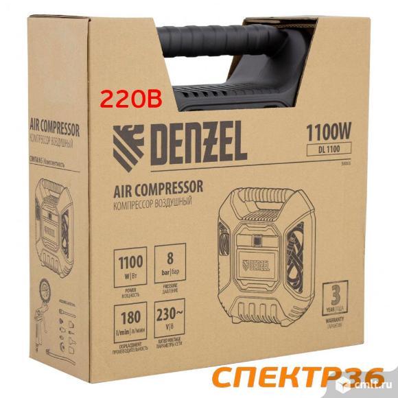 Компрессор мобильный Denzel DL1100 (220В, 180л/мин, 1.1кВт). Фото 7.