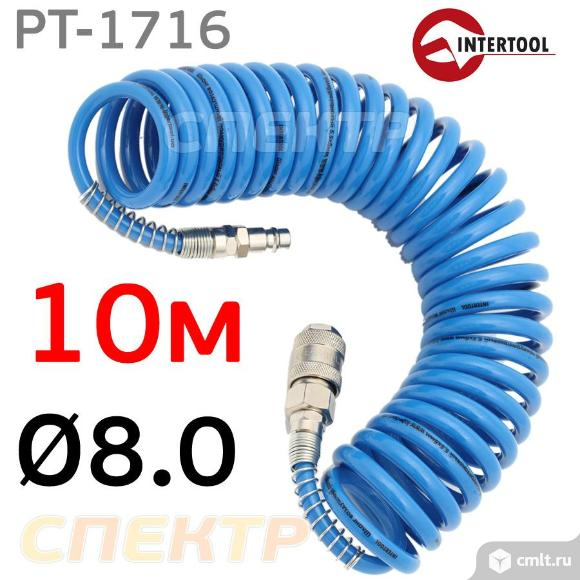 Шланг спиральный эластичный 10м (8.0х12мм) IT. Фото 1.