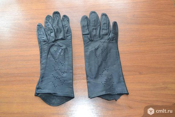 Перчатки женские, кожаные. Фото 1.